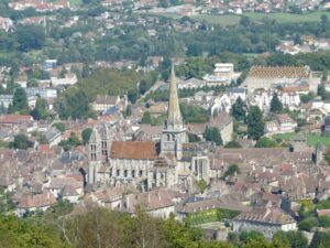 Autun from Le Croix